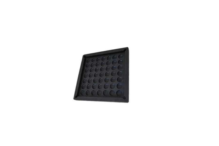 Custom Black Rectangular Anti-vibration Rubber Pad